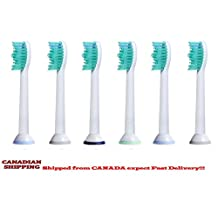 DSRG [PX6016-D] 6pcs. for the PRICE of Electric Toothbrush Replacement Brush Heads COMPATIBLE with PHILLIPS ELECTRIC TOOTHBRUSH (6)
