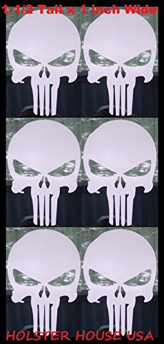 6- SMALL-PUNISHER AMERICAN FLAG SNIPER SKULL ,DIE CUT WHI...