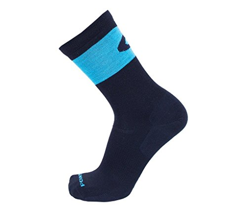 Point6 37.5, Ultra Light Crew sock - Large, Black/Robin's Egg with a Helicase sock - Coconut Point Shops