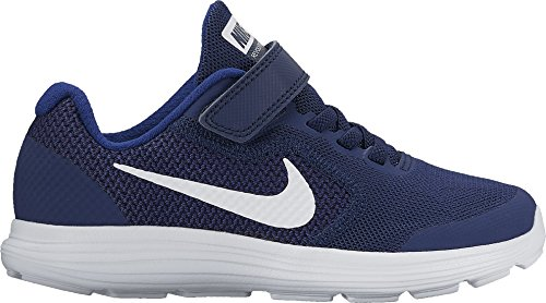 Price comparison product image Boy's Nike Revolution 3 (PS) Pre School Shoe Binary Blue/White/Deep Royal Blue Size 11 Kids US