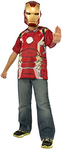 Rubie's Costume Avengers 2 Age of Ultron Child's Iron Man Mark 43 T-Shirt and Mask, Medium (Tony Stark Halloween Costume)