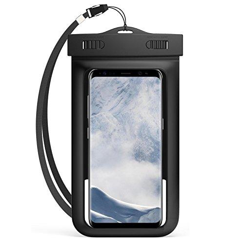 Universal Waterproof Case Dry Bag Pouch w/ Armband & Lanyard for Samsung Galaxy J5 J7 / J7 Pro / J7 Max / J7 V / S8+ / S8 / C5 C7 Pro / A5 A7 2017 / Nokia 3 5 6 / HTC U11 / One X10 / U Ultra (Black)