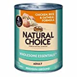 Nutro Natural Choice Chicken Meal, Rice and Oatmeal Formula Canned Food for Sensitive Stomachs, My Pet Supplies