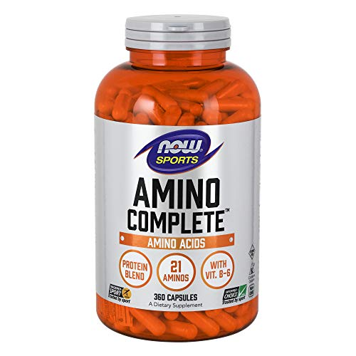 NOW Sports Nutrition, Amino CompleteTM with Vitamin B-6, 360 - Free Healing Caffeine Formula