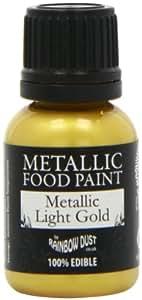Rainbow Dust Metallic Light Gold Edible Food Paint