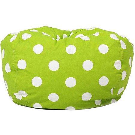 Classic Garbadine Bean Bag Polka Dots - Green