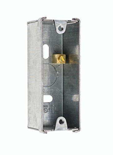 Singola Metallo Architrave Da Incasso Alloggiamento Knockout Indietro Scatola