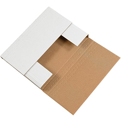 Aviditi M962BF Easy-Fold Mailers, 9-5/8' x 6-5/8' x 2-1/2', White (Pack of 50)