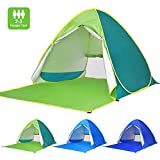Victostar Pop up Beach Tent, Outdoor Automatic Portable Cabana 2-3 Person Fishing UV Protection Beach Umbrella Beach Shelter,Sets up in Seconds (Green)