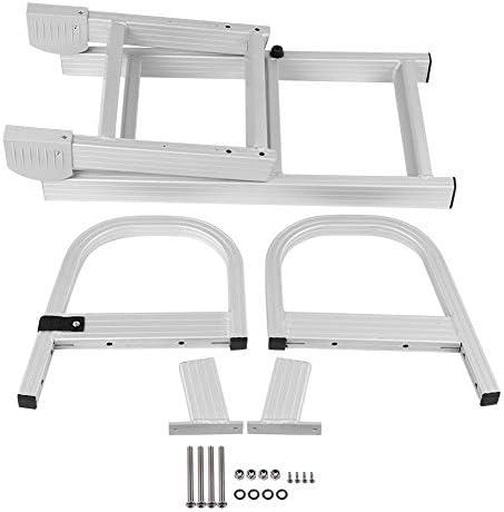 Qiilu Escalera Plegable de 5 Pasos para Barco, Escalera Marina de Pontón de Aluminio: Amazon.es: Coche y moto