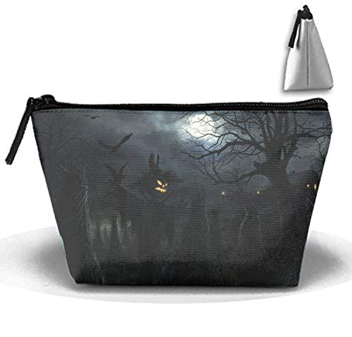 Makeup Bag/Toiletry Bag/Toilet Bag/Jewelry Storage Bag Portable Scary Halloween Scarecrow]()
