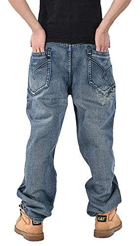 Jeans Da Larghi Streetwear Clubwear Stile Casual Colour Pantaloni hop Giovane Fashion Ballo Uomo Denim Hip Saoye In qTwpgtg