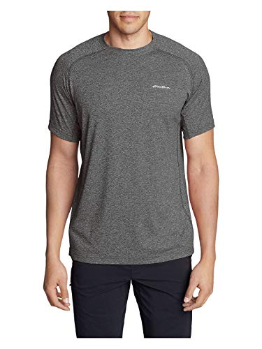 Eddie Bauer Men's Resolution Short-Sleeve T-Shirt, Charcoal HTR Regular L Eddie Bauer Short Sleeve Shirt