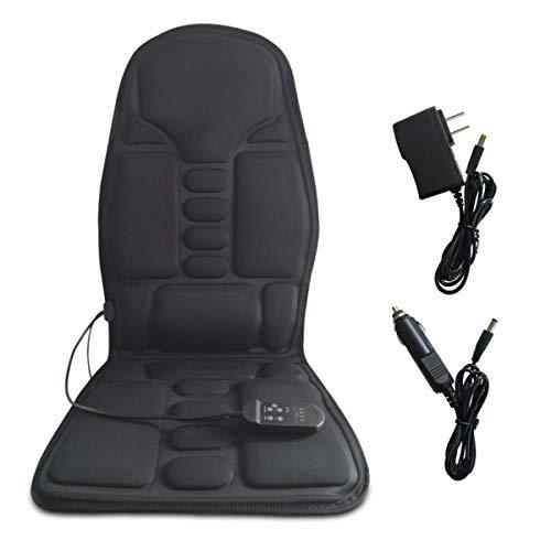 - Portable Heated Vibrating Seat Cushion Neck-Back-Hip Massager 5 Vibrating Motors Massage Mat Relieving Back Lumbar Leg Pain Home Office or Car Use