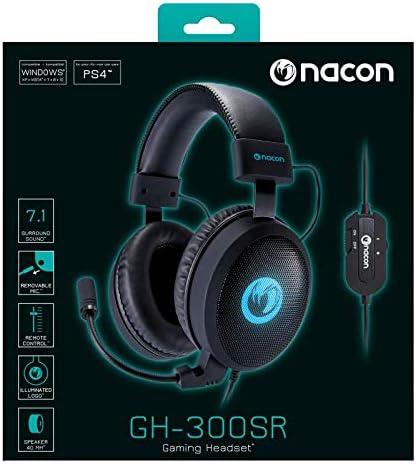 Nacon PCGH 300SR Binaural Headphones Black Audio Headphones (Game ConsolePCGames, 7.1 Channels, Binaural, Headband, Black, Blue)