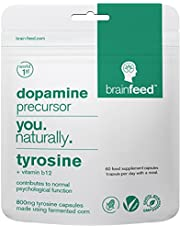 brain feed tyrosine | 60 capsules - 1 per dag | 800 mg | dopamine-supplementen | Vervaardigd in het VK