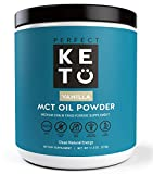 Perfect Keto MCT Oil Powder: Ketosis Supplement (Medium Chain Triglycerides, Coconuts) for Ketone Energy. Paleo Natural Non Dairy Ketogenic Keto Coffee Creamer (Vanilla) Larger Image