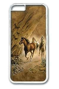 iphone 6 plus Case, iphone 6 plus Cases -Sacred Passage Horse Polycarbonate Hard Case Back Cover for iphone 6 plus 5.5 Transparent wangjiang maoyi