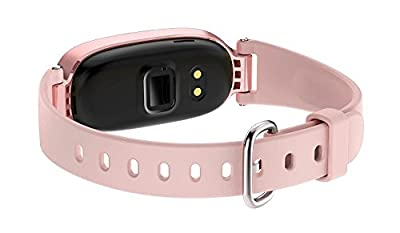WFCL Fitness Tracker, Waterproof Activity Tracker with Pedometer Step and Sleep Monitor Calorie Counter Smart Bracelet for Women (Rose Gold)