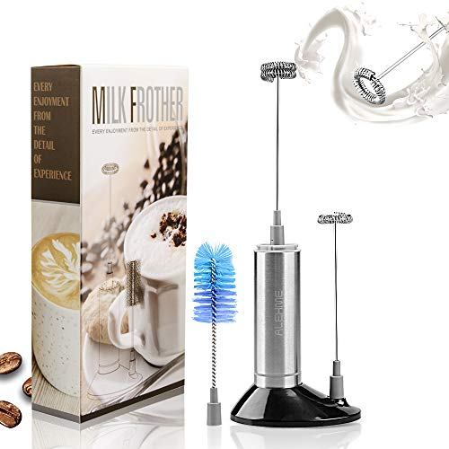 Milk Frother Handheld, Portable Coffee Frother | Bettery Operated Milk Frother Electric Drink Mixer | Stainless Steel…