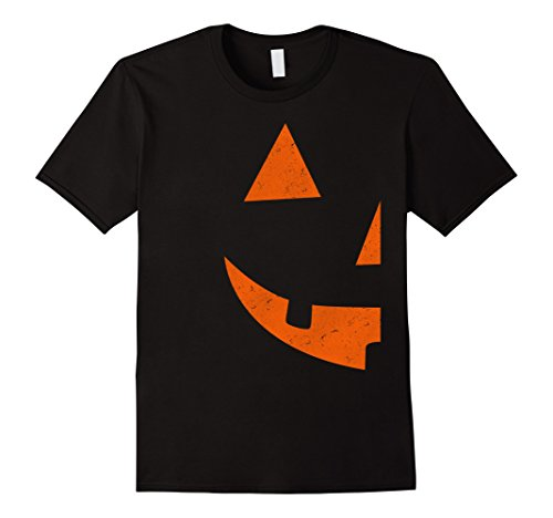 Double Halloween Costumes (Mens Jack O Lantern T-shirt Jackolantern Couple Halloween Costume XL Black)