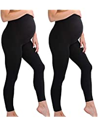 Maternity Leggings Seamless Solid Color Nursing Clothes...