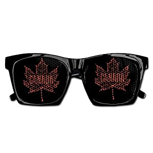 Themed Novelty Canada Maple Leaf Decoration Visual Mesh Sunglasses Fun Props Party Favors Gift Unisex