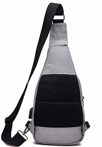Bag function package Office Male Charging messenger Travel Sports Worker A3 Men's Xxszkaa outdoor Chest Bag usb Bag Backpack Bag Shoulder multi vBCqC