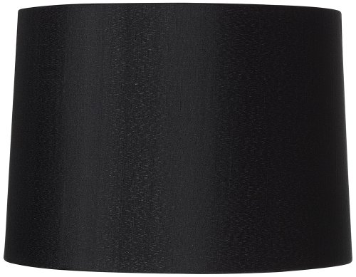 Shade Brentwood Collection - Black Hardback Drum Shade 13x14x10.25 (Spider)