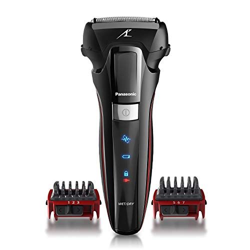 Panasonic Hybrid Wet Dry Shaver, Trimmer & Detailer with Two Adjustable Trim Attachments, Pop-up Precision Detail Trimmer & Shave Sensor Technology - Cordless Razor for Men - ES-LL41-K (Black)