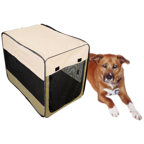 Sportsman Series SSPK36 Portable Pet Kennel Size Medium Pop Up Design – 37 in. x 24.5 in. x 27.5 in. For Sale