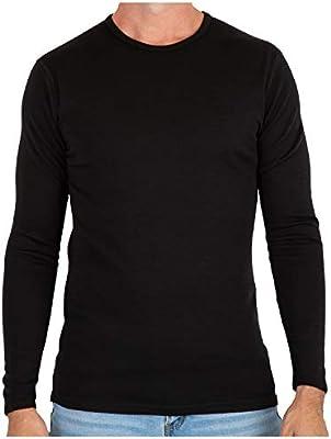 MERIWOOL Mens Base Layer 100% Merino Wool Midweight Long Sleeve Thermal Shirt