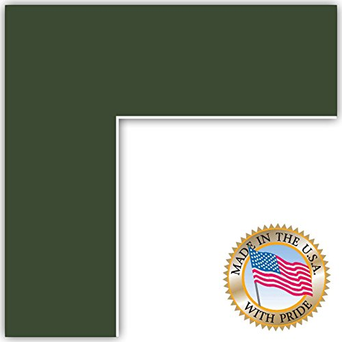 20x30 Olive / Forest Green Custom Mat for Picture Frame with 16x26 opening size (20x30 Photo Paper)