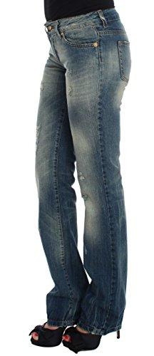 Coton Cavalli Bleu Jeans Basse Femme Taille wf5fF41q