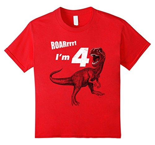 Kids Birthday Dinosaur Gift T Shirt product image