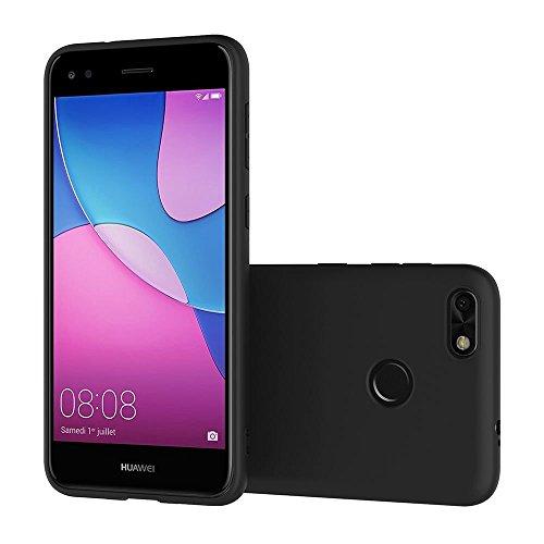 Funda para Huawei Y6 Pro 2017 / Enjoy 7 / Huawei P9 Lite Mini , IJIA Puro Negro Melocotón Flores TPU Silicona Suave Cover Tapa Caso Parachoques Carcasa Cubierta Case para Huawei Y6 Pro 2017 / Enjoy 7  Black-XY23