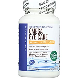 Whole Foods Market, Omega Eye Care, Lemon Flavor, 60 ct