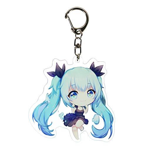 Bowinr Hatsune Miku Keychain, Japanese Anime Vocaloid Hatsune Miku Kawaii Keyring for Bags, Keys, Phones and Pencil Cases (Style 12)