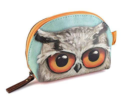 1pc Mint Santoro Book Owls Large Shell Pouch 10x15 cm, Pencil Cases and Coin Purses, Fashion Accessories ()