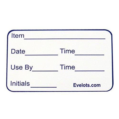 Evelots 1000 - Etiquetas extraíbles para Alimentos