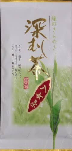 八女深むし茶 90g×3袋 お茶の小野園 甘みが強い濃い味の八女茶 極上の深蒸し日本茶