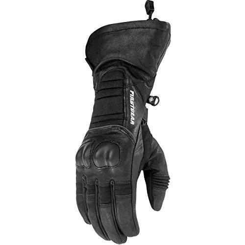 (Firstgear Women's Fargo Gloves - New (LARGE) (BLACK))