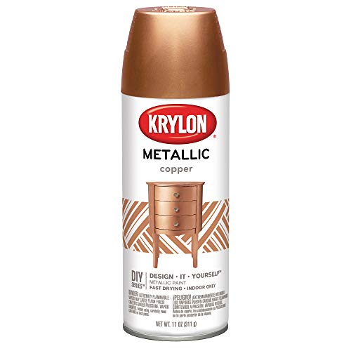 Krylon K02203 Brilliant Spray Paint Metallic Copper 12OZ, 6