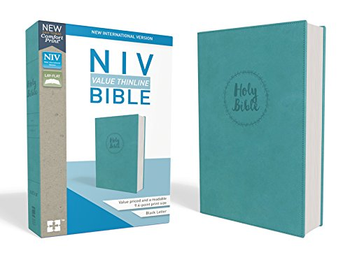 NIV, Value Thinline Bible, Leathersoft, Teal, Comfort Print ()