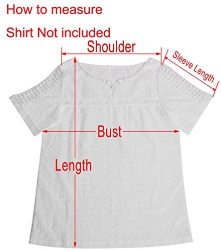 Shirt Vert Vrac Longues Koly Chemise VRifi Rond Femme Blouse Femmes Manches Col Tops 7affz8