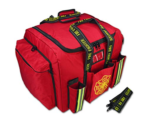 - Lightning X Premium XL Step-In Turnout Gear Bag w/Shoulder Strap & Front Pockets - Red