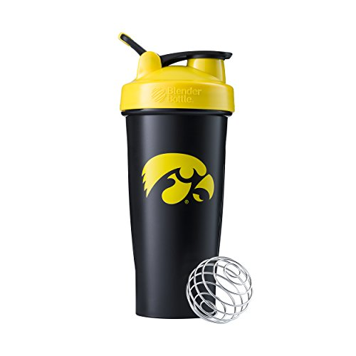 (BlenderBottle Collegiate Classic 28-Ounce Shaker Bottle, University of Iowa Hawkeyes - Black/Yellow)