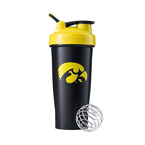 BlenderBottle Classic NCAA Collegiate Shaker Bottle, University of Iowa - Black/Yellow, 28-Ounce - Ncaa Iowa University
