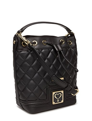 Love Moschino bucket bag Nappa quilted black