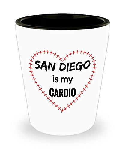SAN DIEGO Shot Glass - San Diego is My Cardio -